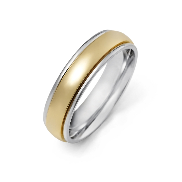 14k White Gold Wedding Band 105856 Men S Wedding Bands From
