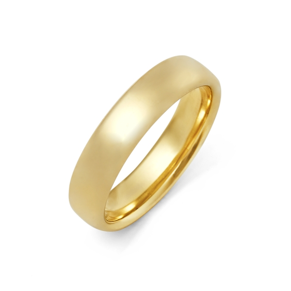 14k Yellow Gold Mens Wedding Band