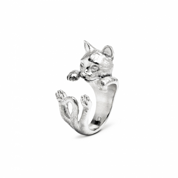 Cat Fever - European Silver Hug Ring