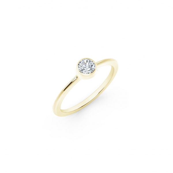 Forevermark Tribute Collection - The Forevermark Tribute Collection Classic Bezel Stackable Ring - image 2