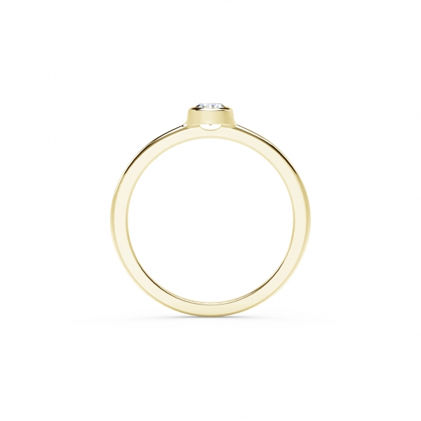 Forevermark Tribute Collection - The Forevermark Tribute Collection Classic Bezel Stackable Ring - image 3
