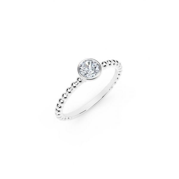 Forevermark Tribute Collection - The Forevermark Tribute Collection Diamond Stackable Ring - image 2