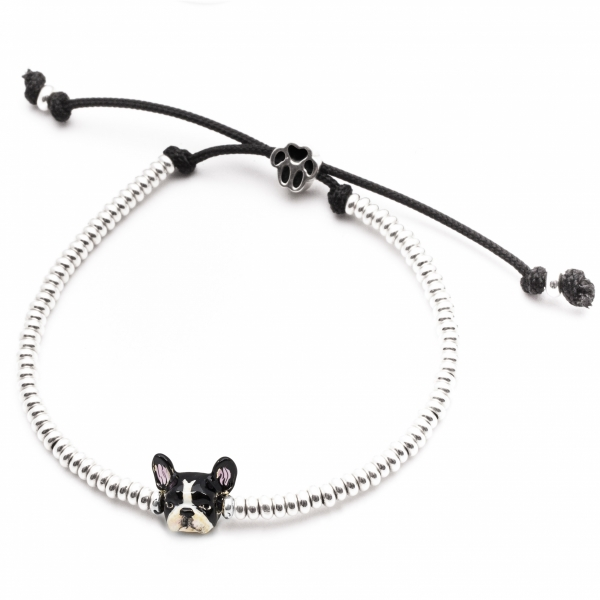 Enamel French Bulldog Head Bracelet