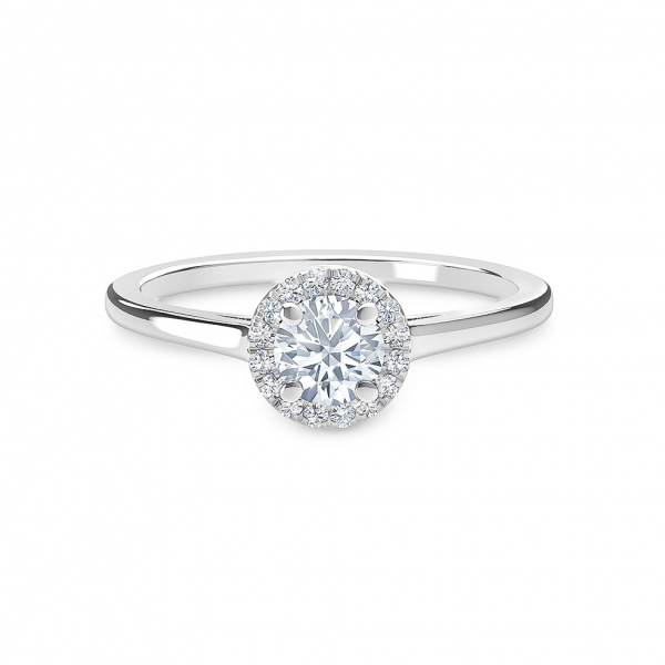 Forevermark halo style diamond engagement ring - Forevermark Halo Diamond Engagement Ring