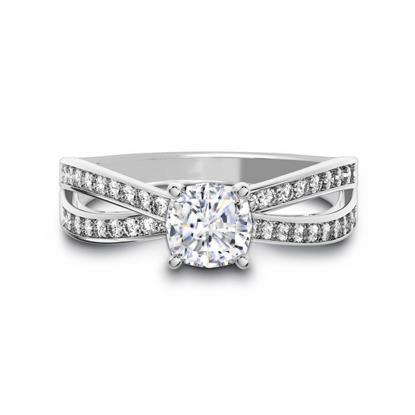 Bow tie solitaire diamond engagement ring - Forevermark Bow Tie Solitaire Diamond Engagement Ring