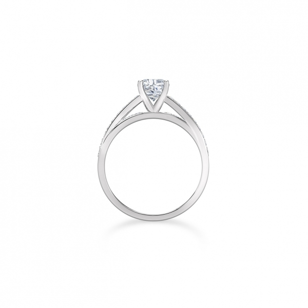 Forevermark - Forevermark Bow Tie Solitaire Diamond Engagement Ring - image 2