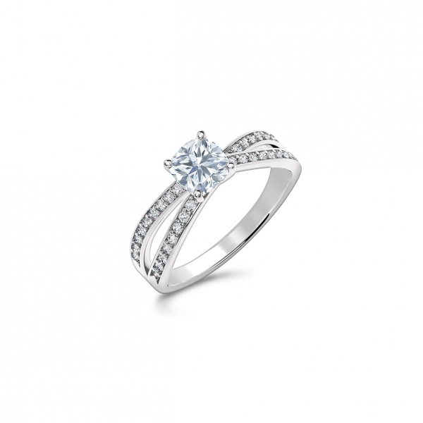 Forevermark - Forevermark Bow Tie Solitaire Diamond Engagement Ring - image 3