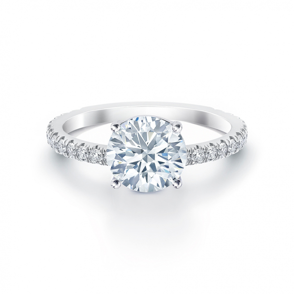 Forevermark solitaire diamond engagement ring