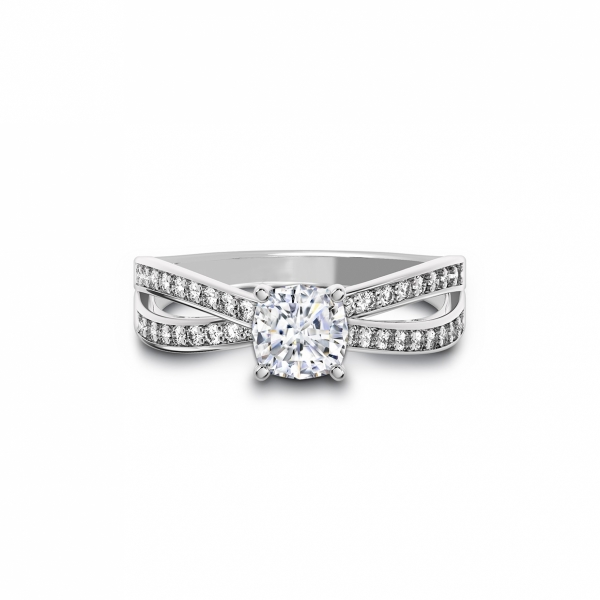 Forevermark - Forevermark Bow Tie Solitaire Diamond Engagement Ring