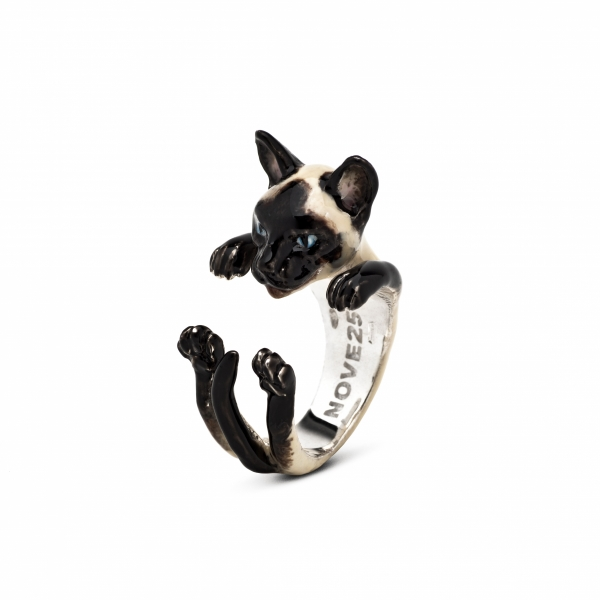 Cat Fever - Siamese Enamel Hug Ring