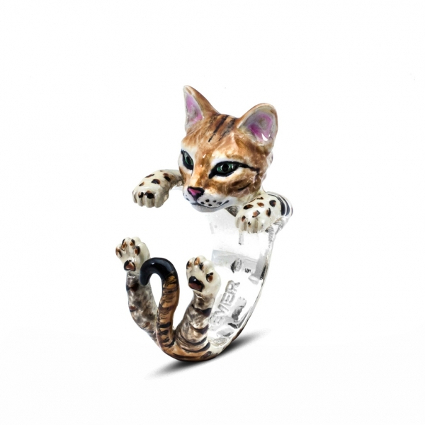 Bengal Enamel Hug Ring by Cat Fever - Bengal Enamel Hug Ring