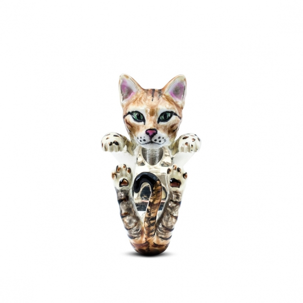 Cat Fever - Bengal Enamel Hug Ring - image #2