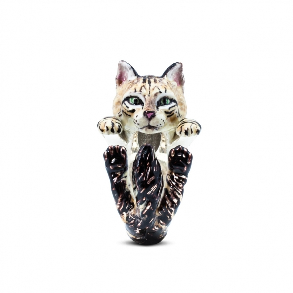 Cat Fever - Norwegian Forest Cat Enamel Hug Ring - image #2