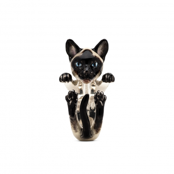Cat Fever - Siamese Enamel Hug Ring - image #2