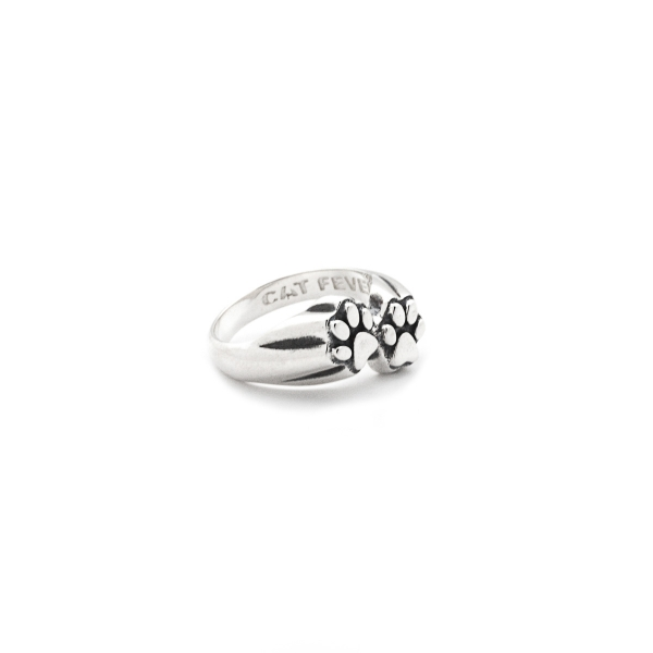 Cat Fever - Cat Fever Paw Print Ring - image #2