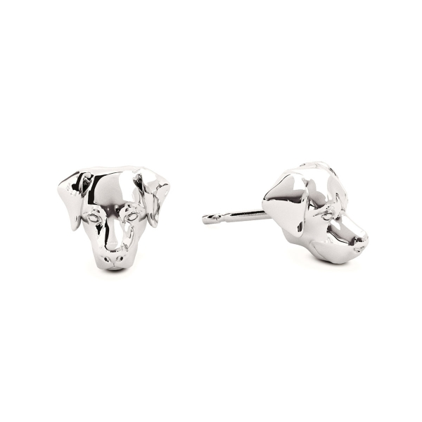 Labrador Retriever Silver Stud Earrings