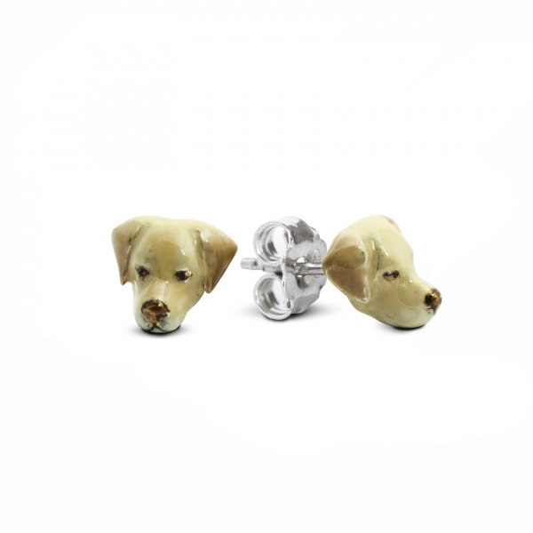 Labrador Retriever Enamel Stud Earrings