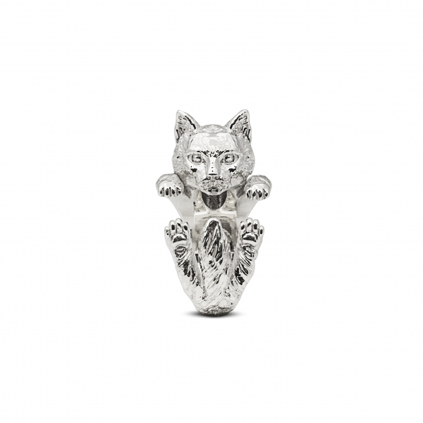 Cat Fever - Norwegian Silver Hug Ring - image #2