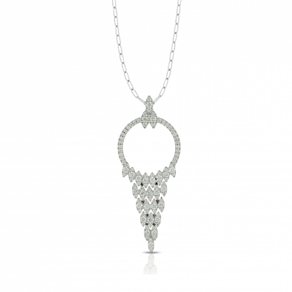 Lady's 18 karat white gold diamond pendant