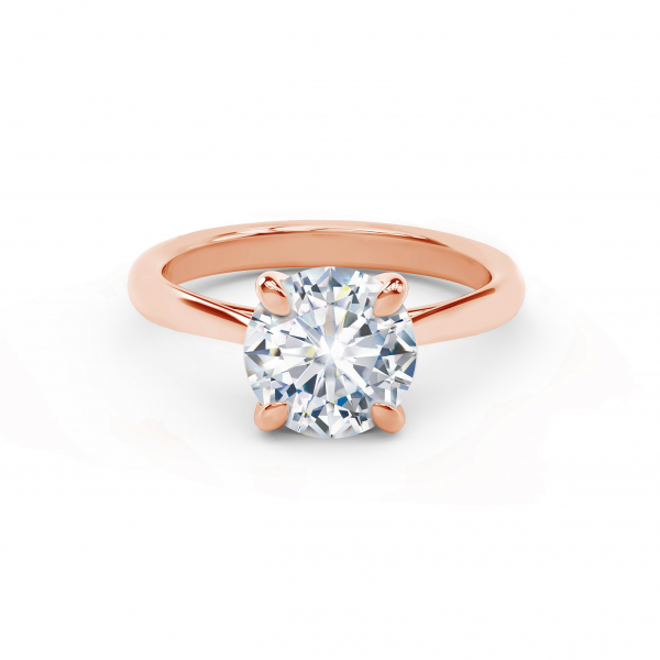 Forevermark solitaire rose gold diamond engagement ring - Forevermark New Aire Solitaire Diamond Engagement Ring
