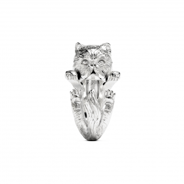 Cat Fever - Persian Silver Hug Ring - image #2