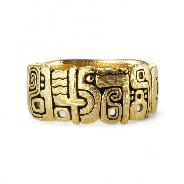 Alex Sepkus 18 Karat Yellow Gold Numbers Ring