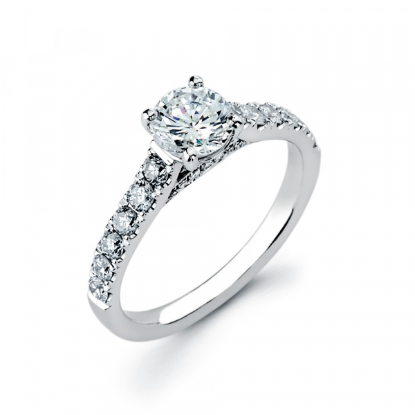 Classic diamond engagement ring in white gold