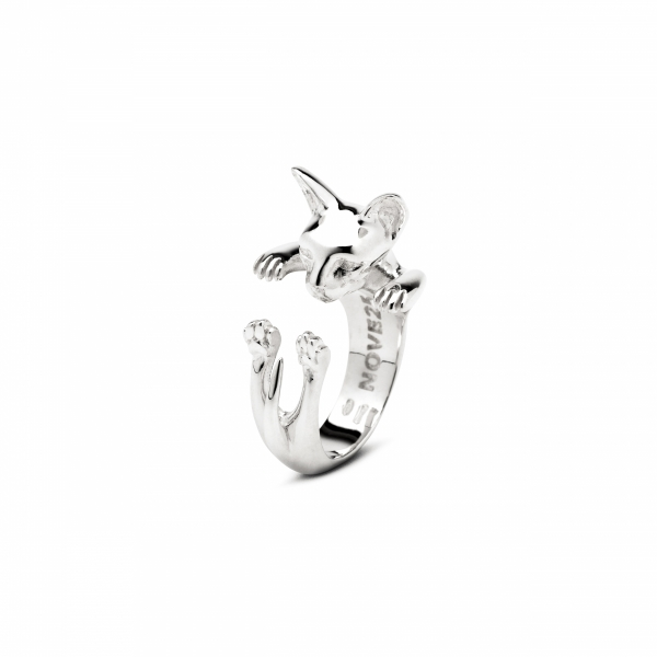 Sphynx Silver Hug Ring by Cat Fever - Sphynx Silver Hug Ring