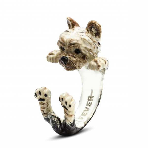 Yorkshire Terrier Enamel Hug Ring