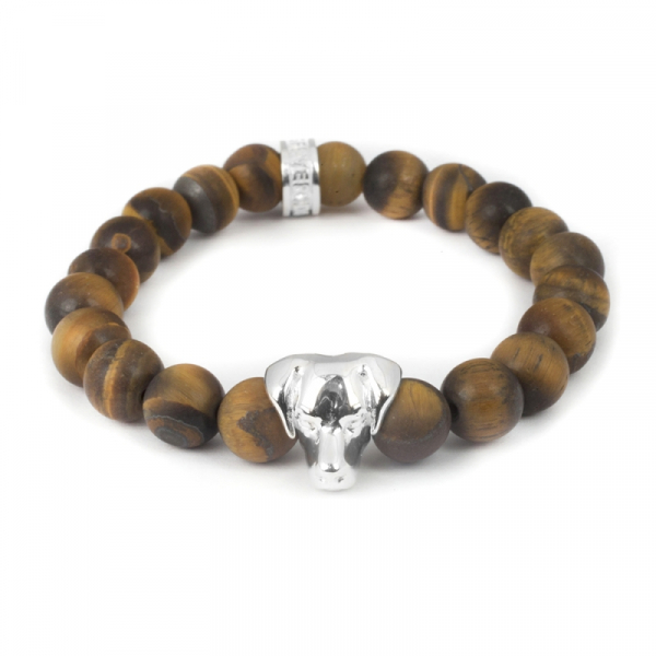 Labrador Tiger's Eye Bead Head Bracelet