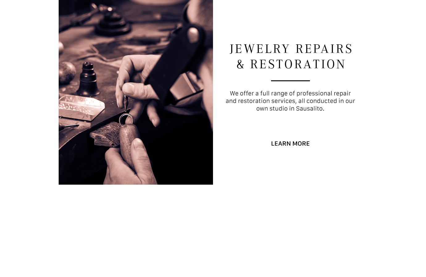Professional Jewelry Repair Sausalito -